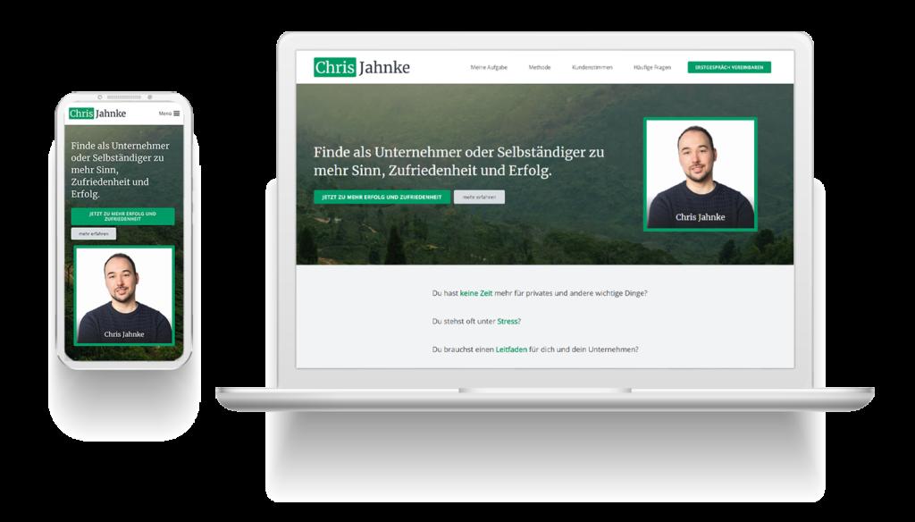 Website: Chris Jahnke - nachher