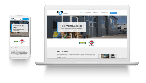 Höll Fahrzeuge GmbH Website Mockup